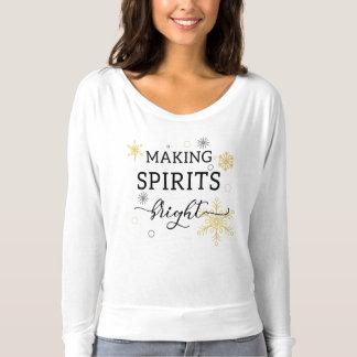 T-shirt Faisant à spiritueux des vacances lumineuses