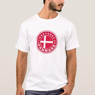 T-shirt fait dans le danmark de foretages d'étiquette de