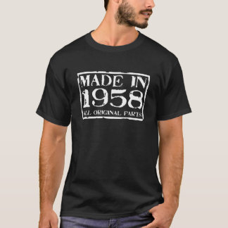 T-shirt Fait en 1958 toutes les pièces d'original