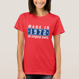 T-shirt FAIT en 1972 toute la pièce en t ORIGINALE de