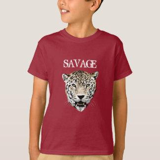 T-shirt fait sur commande d'animal sauvage de