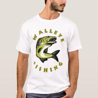 T-shirt fait sur commande de pêche des brochets