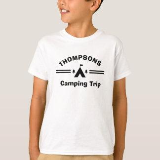 T-shirt fait sur commande de vacances en camping