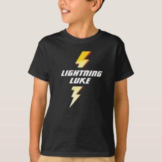 T-shirt fait sur commande du football de foudre