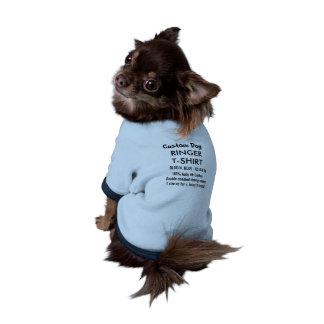 T-shirt fait sur commande XS BLEU de sonnerie de Manteaux Pour Toutous