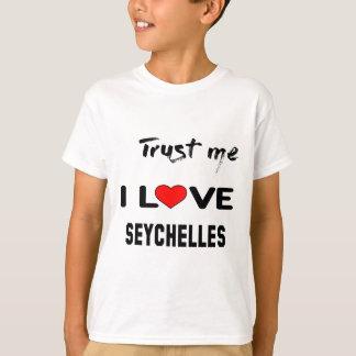 T-shirt Faites- confiancemoi amour Seychelles d'I