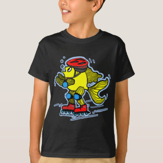 T-shirt Faites du roller la bande dessinée de patinage