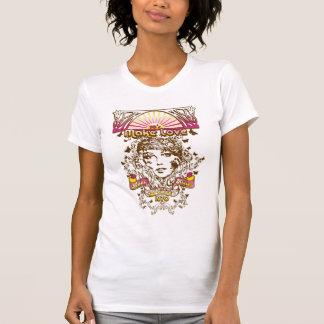 T-shirt faites les années 70 les baisers 1970 de paix de