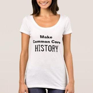 T-shirt Faites l'histoire de tronc commun