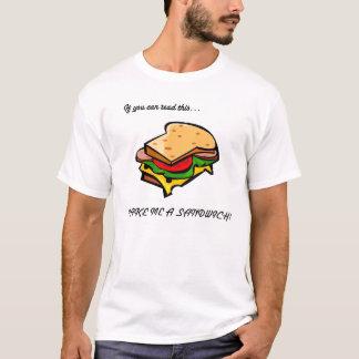T-shirt Faites-moi un sandwich
