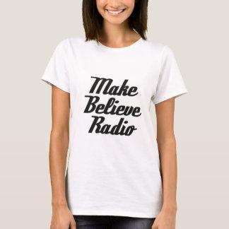 T-shirt Faites pour croire le blanc par radio de pièce en