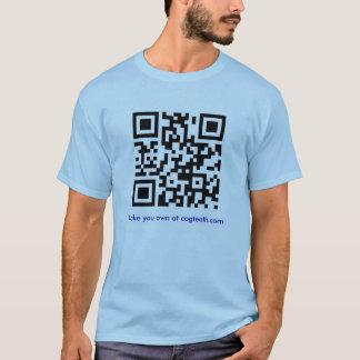 T-shirt Faites votre propre chemise de code de QR