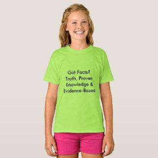 T-shirt Faits obtenus ? Définitions d'amusement