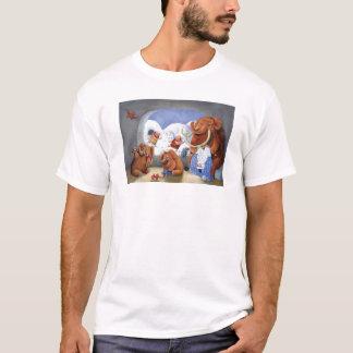 T-shirt Famille de mammouth laineux dans la période