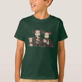 T-shirt Famille effrontée de singe de bande dessinée