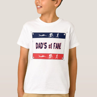 T-shirt Fan du #1 du papa de triathlon