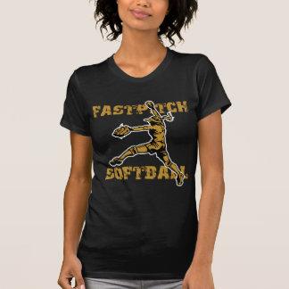 T-shirt Fastpitch, gold2 affligé