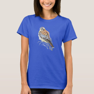 T-shirt Faucon américain d'oiseau de faucon de crécerelle
