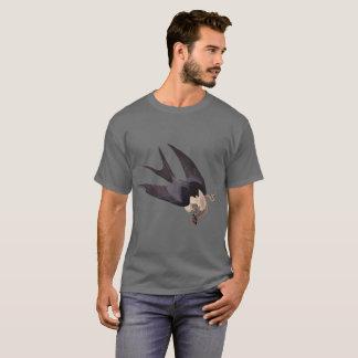 T-shirt Faucon coupé la queue par hirondelle avec le cru