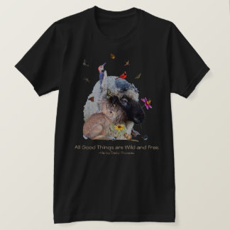 T-shirt Faune de nature avec la citation de Thoreau :