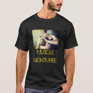 T-shirt Fausse chemise de bande - cauchemar de muscle