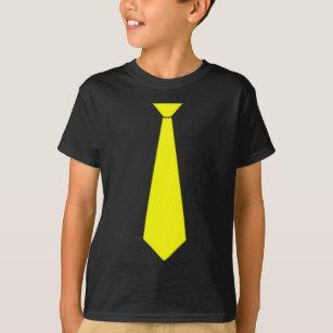 détails pour Prix de gros 2019 qualité T-shirt Fausse cravate jaune