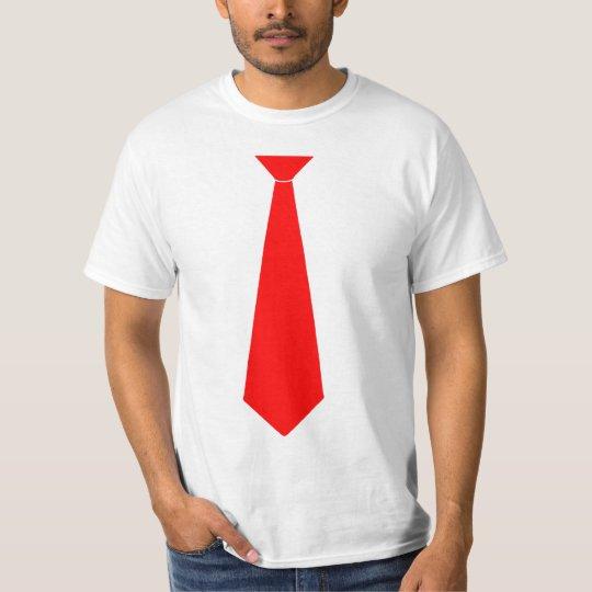 artisanat exquis bon ajustement design exquis T-shirt Fausse cravate rouge