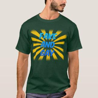 T-shirt Faux et homosexuel (foncés)