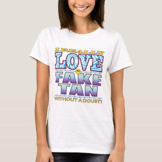T-shirt Faux visage bronzage d'amour