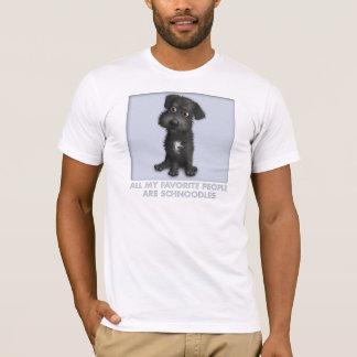 T-shirt Favori (noir) de Schnoodle