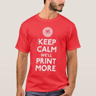 T-shirt Federal Reserve gardent les chemises calmes