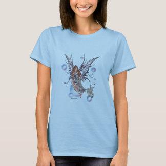 T-shirt fée-chat-pourpre-dentelle