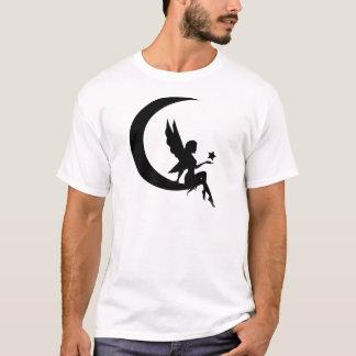 T-shirt Fée s'asseyant sur l'habillement de croissant de