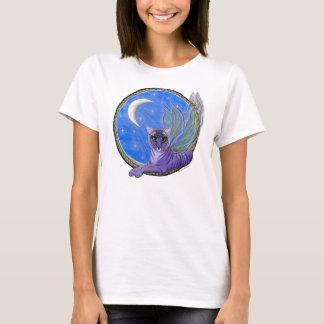 T-shirt féerique d'art de chat d'imaginaire de
