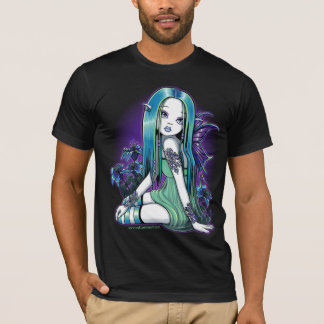 T-shirt féerique d'art de Lilly de lune gothique
