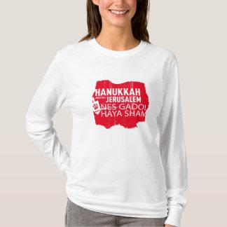 T-shirt Feinte de Nes Gadol Haya pour des femmes (ROUGES)