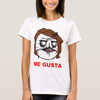 T-shirt Femelle de Brown je visage comique Meme de rage de