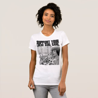 T-shirt Féminin Branca Ativismo Féministe