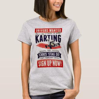 T-shirt Féminin Cendré Vintage Karting