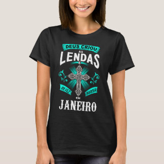 T-shirt Féminin Naissance Légendes de janvier