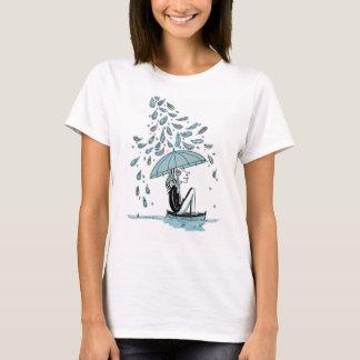 T-shirt Femme au parapluie