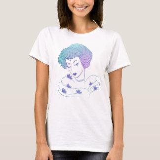 T-shirt Femme aux lotus