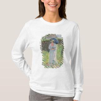 T-shirt Femme avec un parasol (en pastel sur le papier)