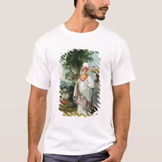 T-shirt Femme créole indienne occidentale avec son employé