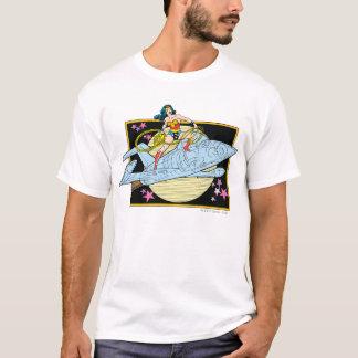 T-shirt Femme de merveille avec le jet