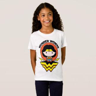 T-Shirt Femme de merveille de Chibi avec le pois et le