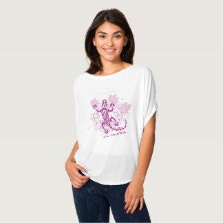 T-shirt femme haut arrondi horoscope lézard F