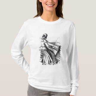 T-shirt Femme jouant à un clavier, 1635