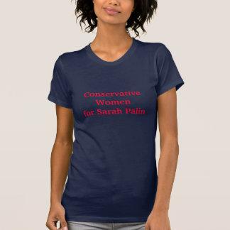 T-shirt Femmes conservatrices pour Sarah Palin