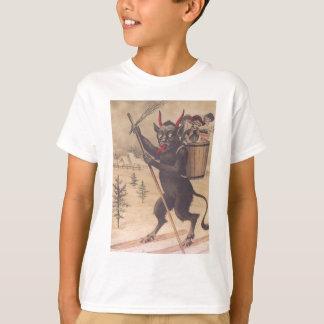 T-shirt Femmes de kidnapping de ski de Krampus